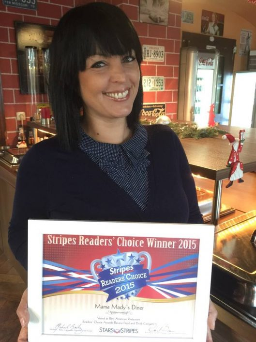 Mama Mady's Diner, Stripes Readers' Choice Winner 2015